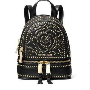 Michael kors rose studded Rhea mini backpack